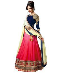 Lucky Infra Pink Faux Georgette Lehenga