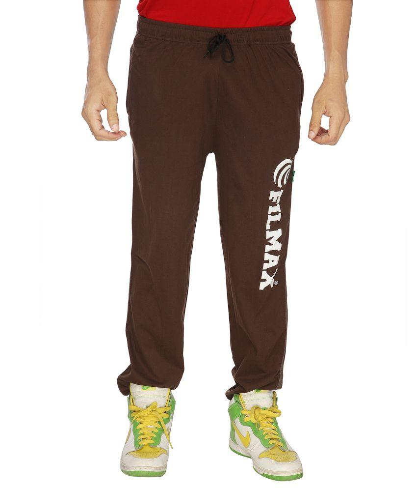 Filmax Brown Cotton Trackpants Single