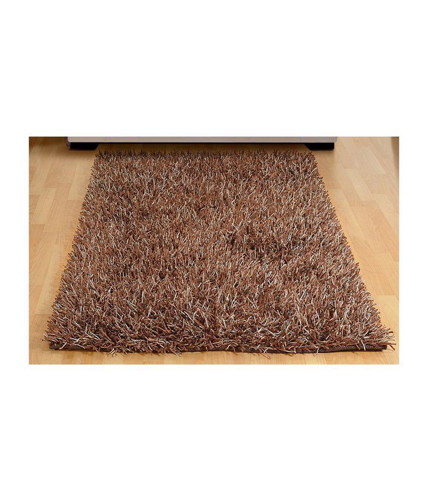 Flooring India Modern Super Quality Shimmer Rug Brown