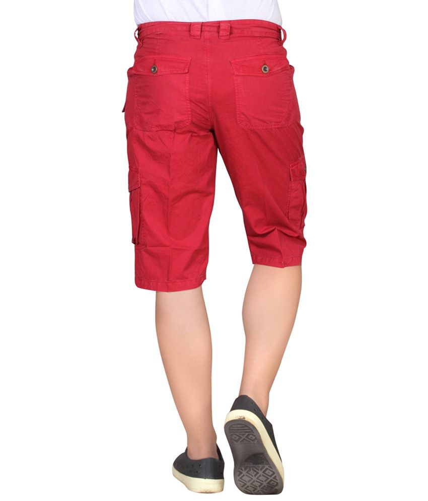 Hi Sport Red Cotton Capris