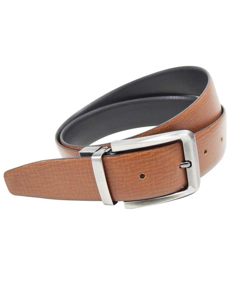 Midas Black Leather Formal Belt For Men