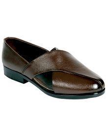 Panahi Brown Ethnic Shoes