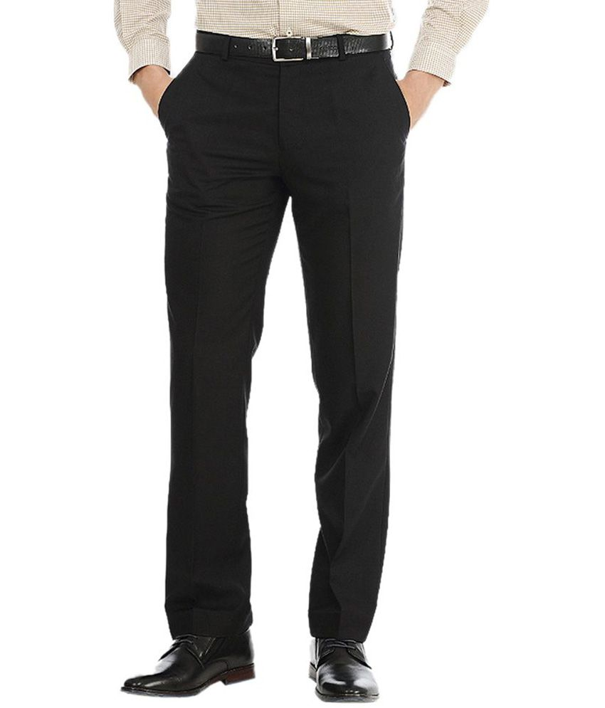 AD & AV Black Poly Viscose Trouser