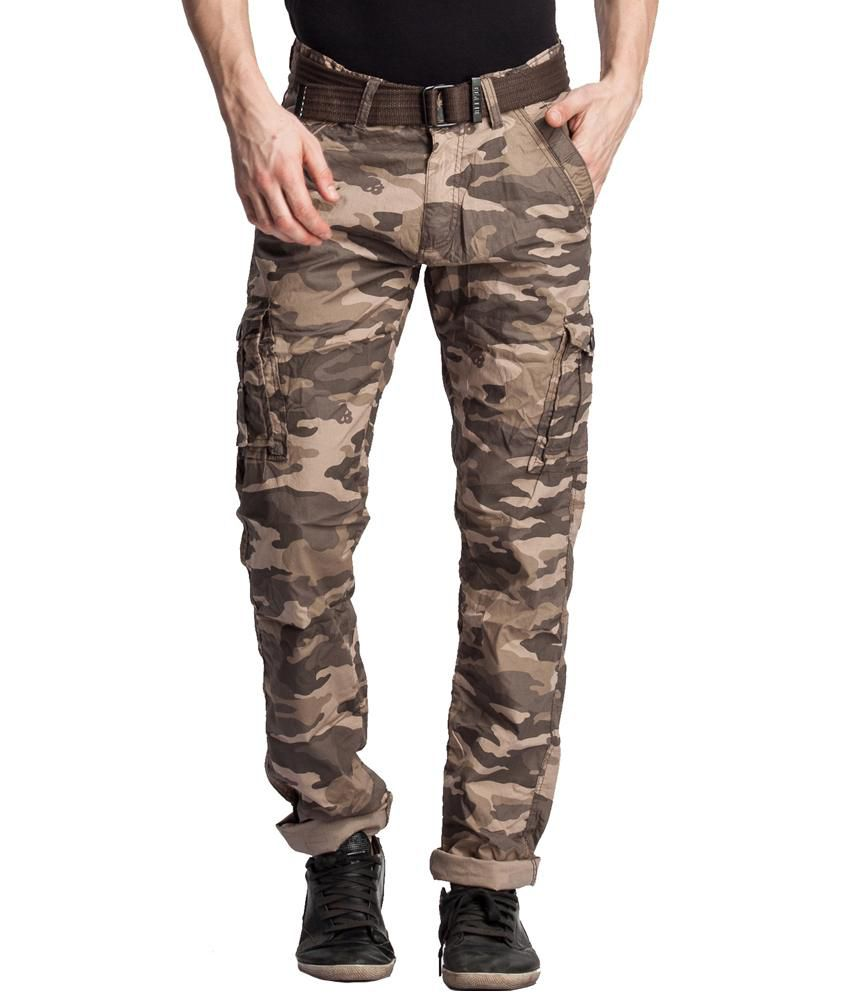 Beevee Green Cotton Cargos