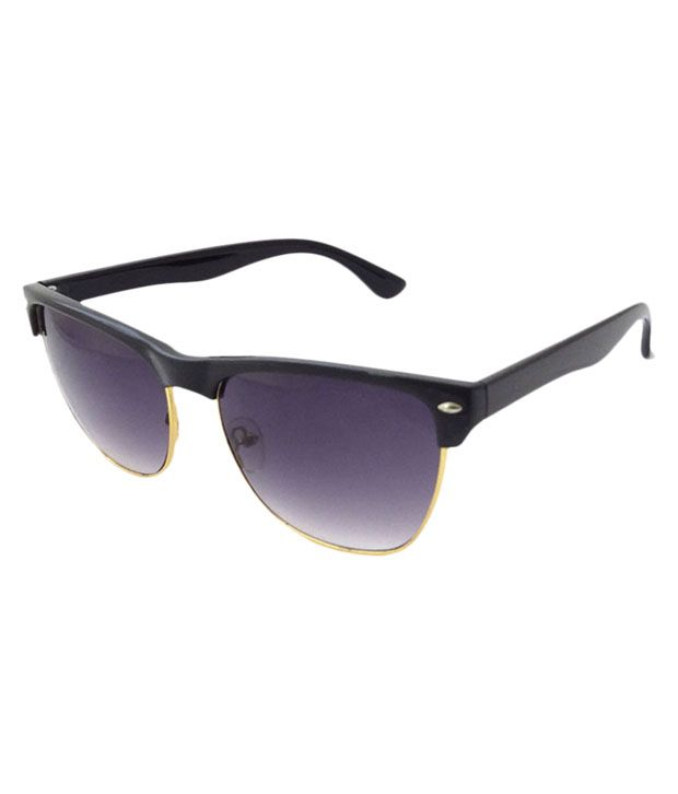 FNF Black Non Metal Stylish Wayfarer Sun Glasses