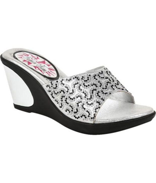 Fashion Koni Gray Heeled Slip-Ons