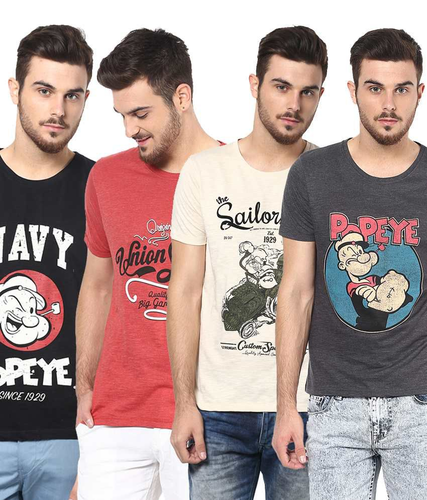 Henry and Smith Perfect Multicolour T-Shirts (Pack of 4)