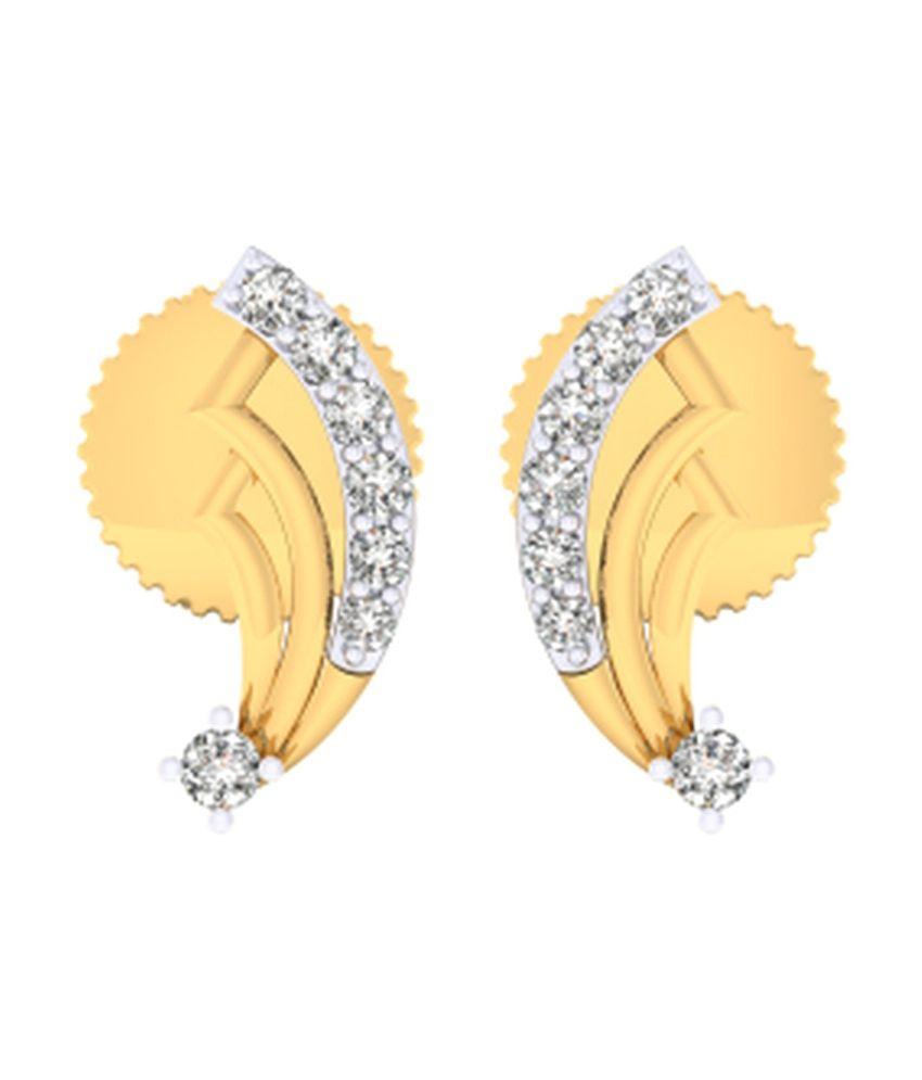 Kataria Jewellers The Editta  Diamond Earrings with BIS Hallmarked Gold and IGI Certified Diamonds