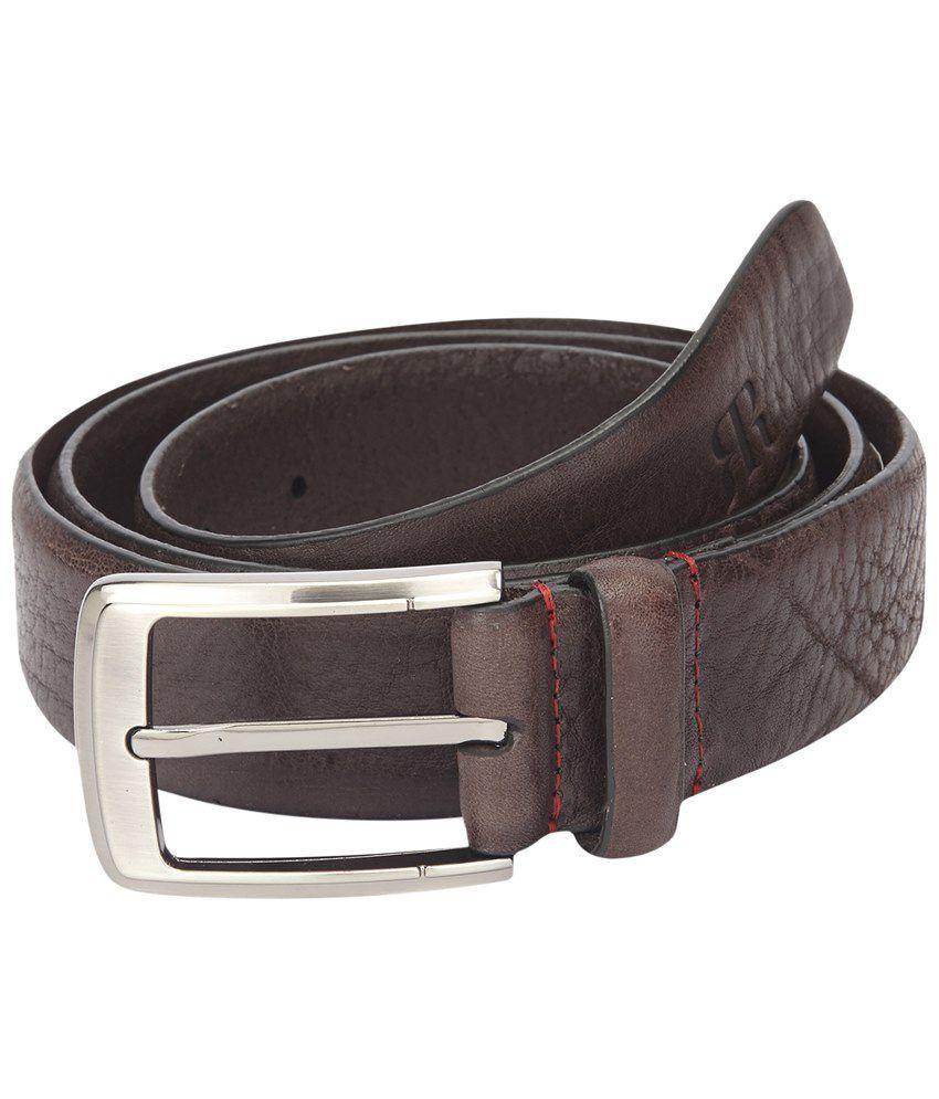 Raymond Notable Brown Formal Waist Belt for Men