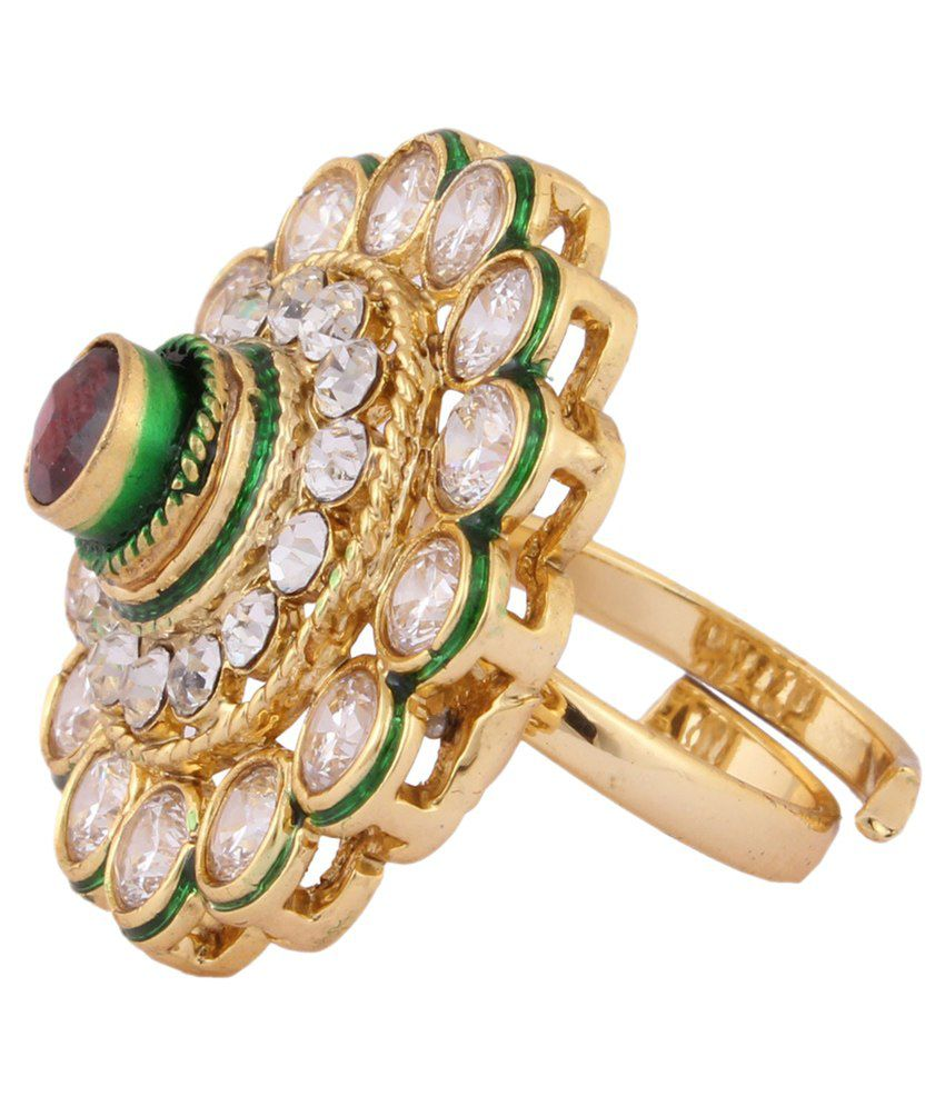 Jstarmart Beautiful Golden Ring for Women: Buy Jstarmart Beautiful ...
