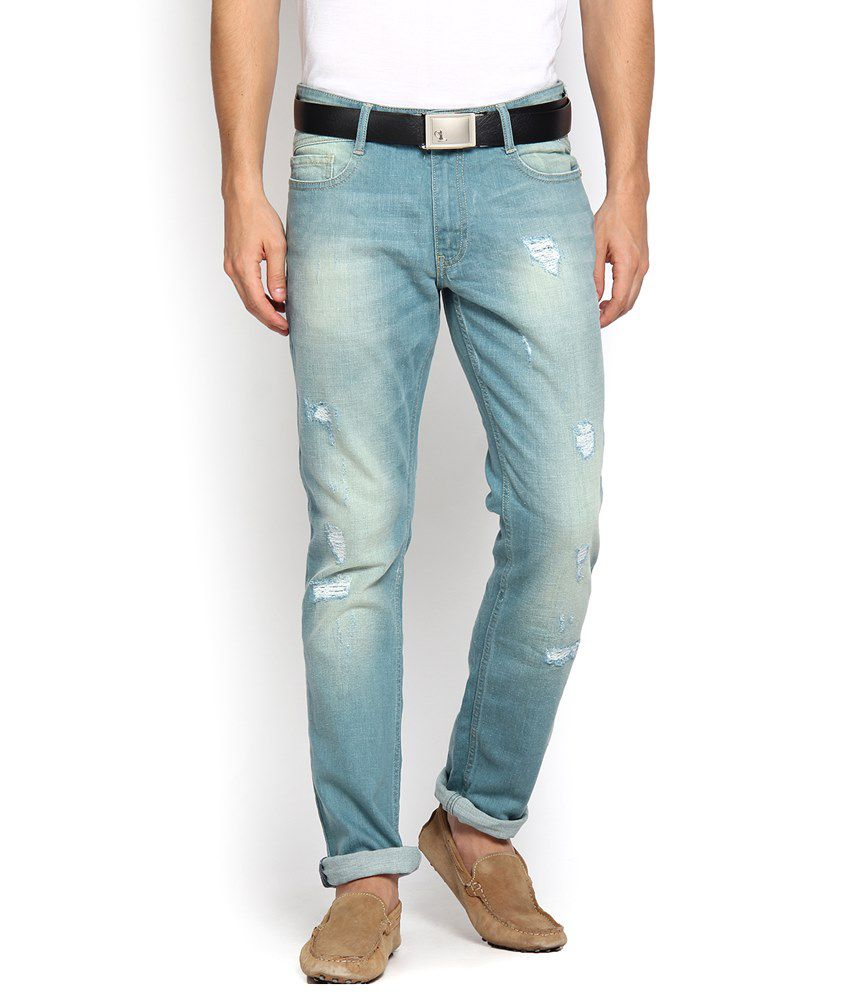 Locomotive Classic Blue Slim Fit Jeans for Men