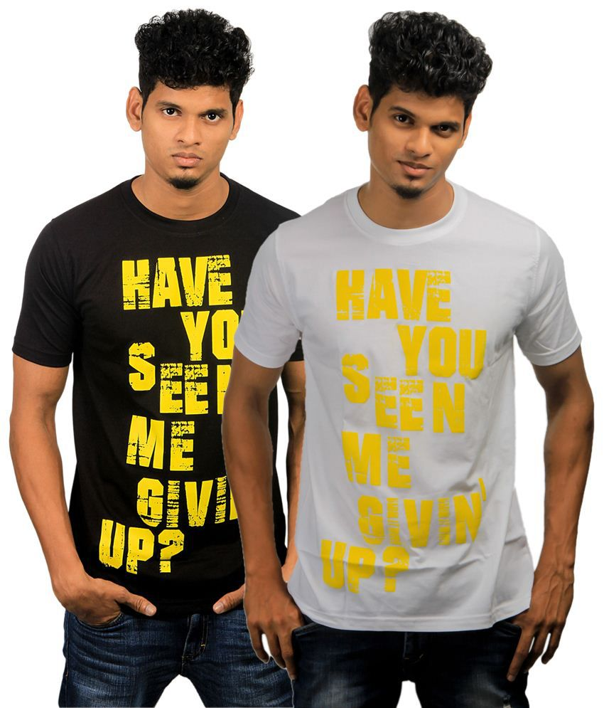 Paradigm Pack of 2 Gray & Black T Shirts for Men