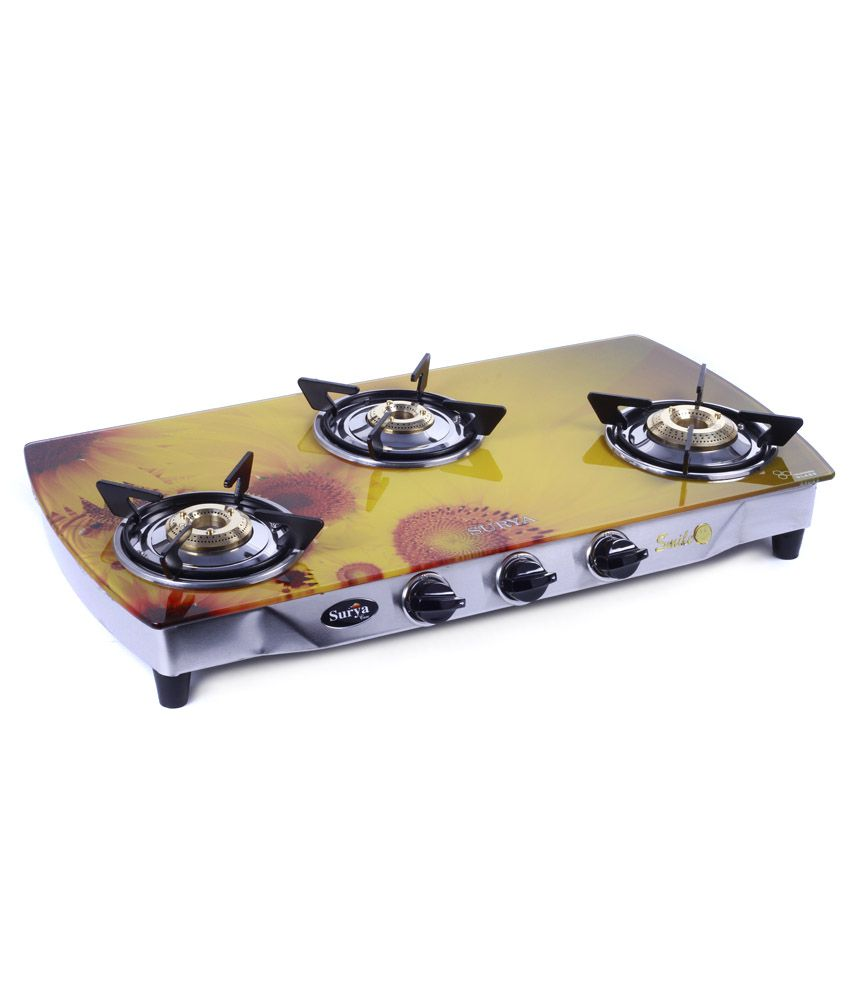 Surya Care SC-GLS-302 3 Burner Gas Cooktop