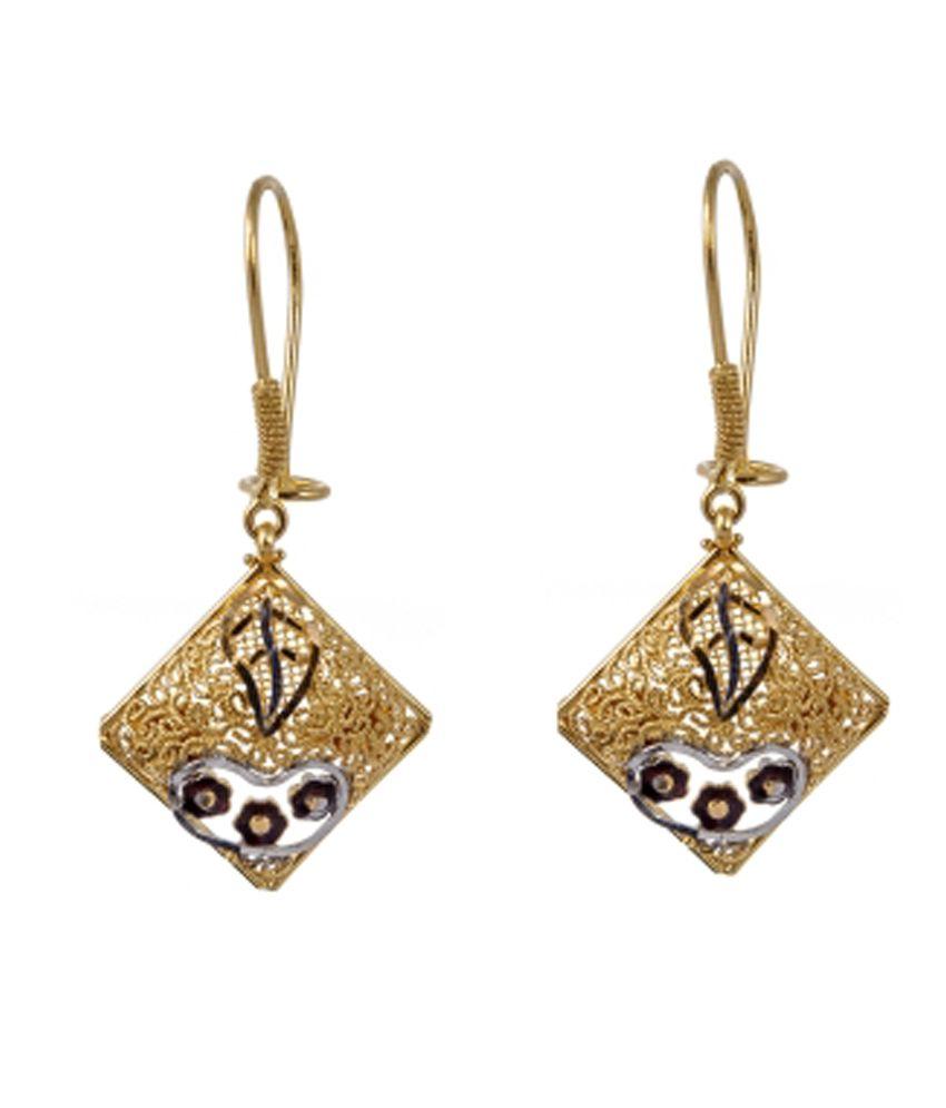 Jewelegance Contemporary 22Kt Gold Dangler Earrings