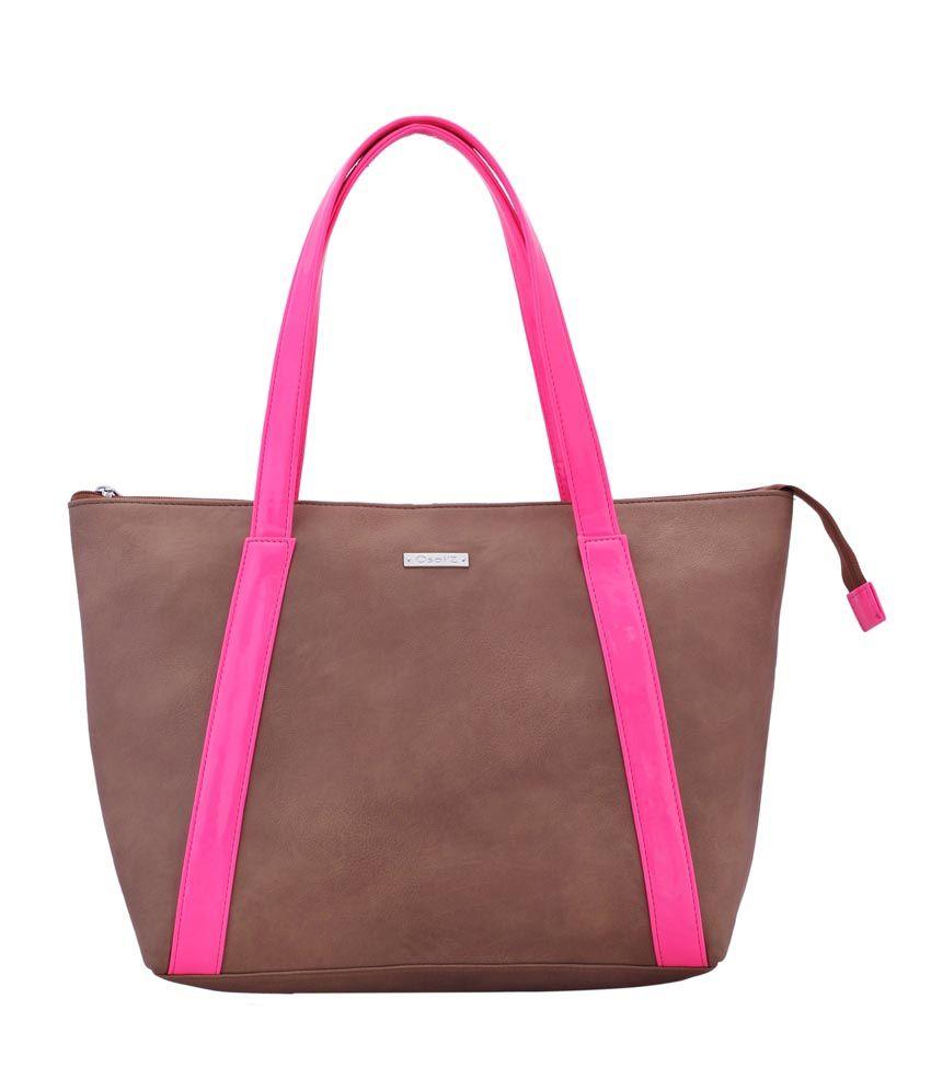 Osaiz Brown P.U. Leather Shoulder Bag For Women