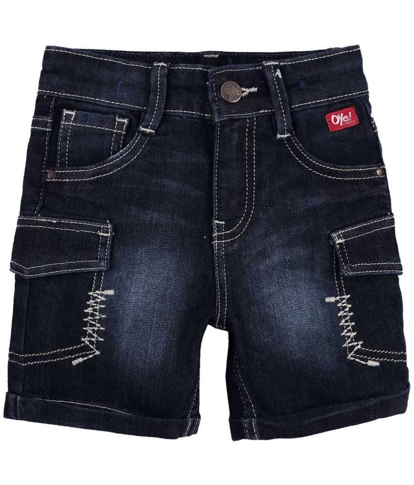 Oye Navy Denim Shorts