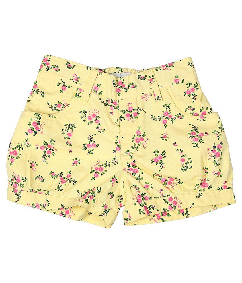 Trishaa by Pantaloons Yellow Printed Shorts