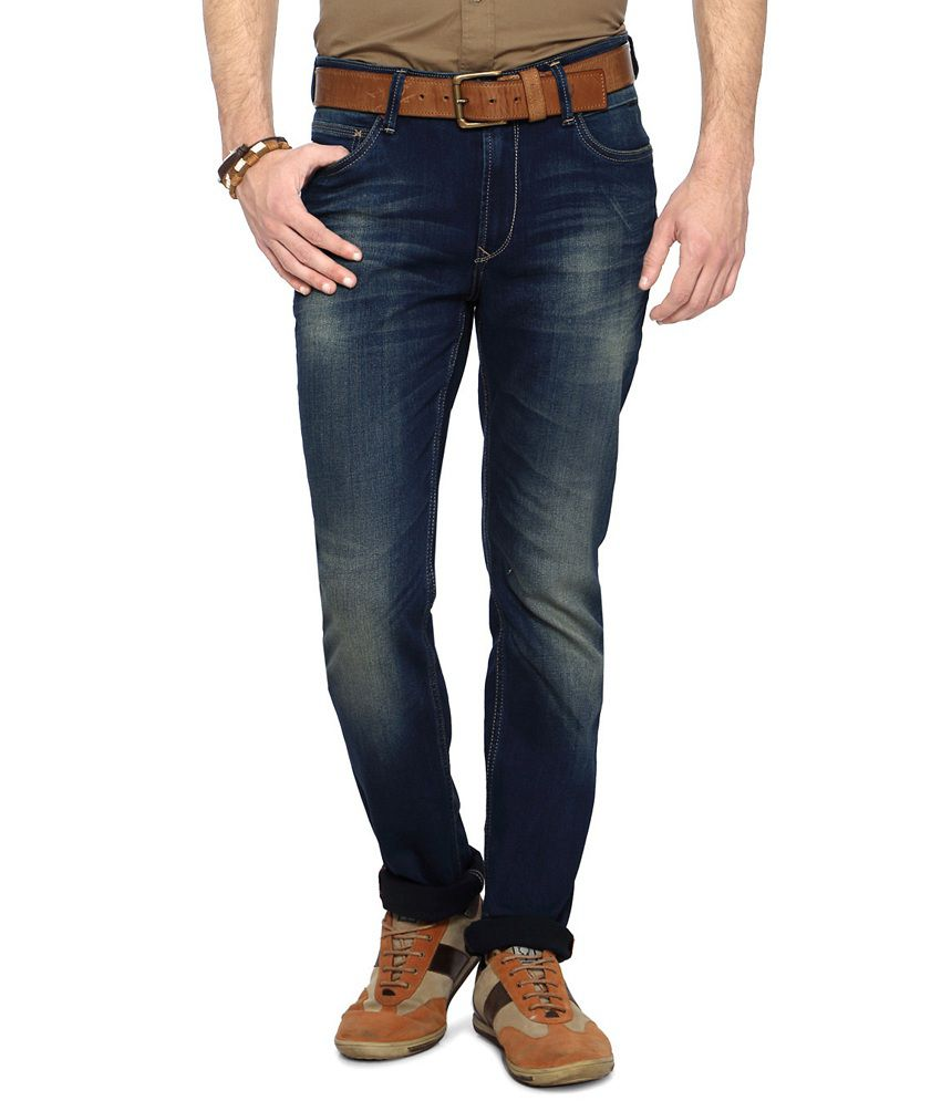 SF Jeans by Pantaloons Blue Slim Fit Men's Jeans