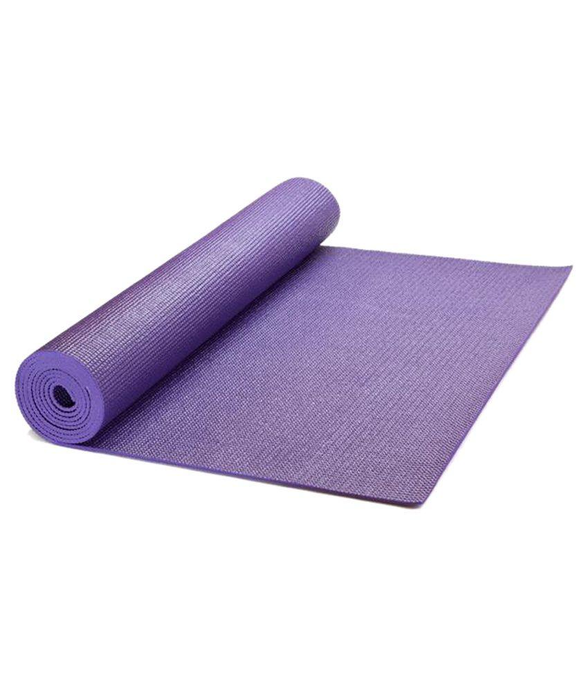 Pasricha Handlooms Anti Skid 4mm Purple Yoga Mat With Pre