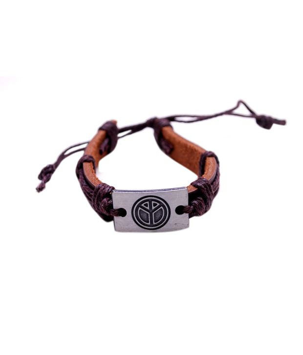 Vlt Brown Casual Hit Daily Wear Stretchable Bracelet