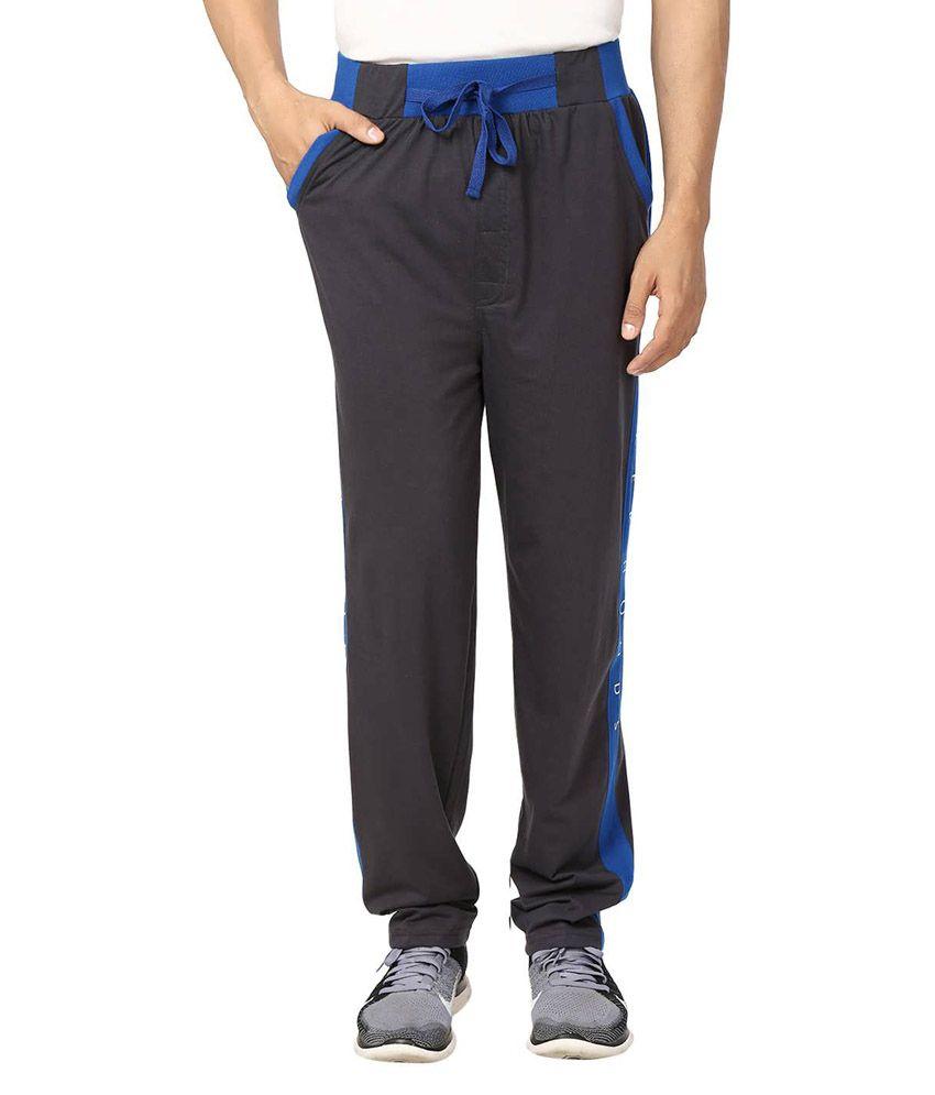Flicker Hoods Dark Grey Premium Cotton Track Pant