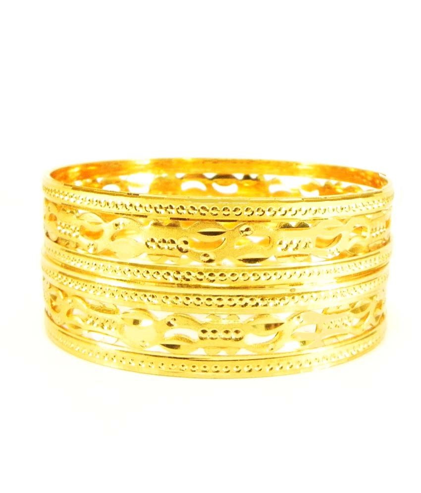 Glamche Golden Gold Plated Bangles