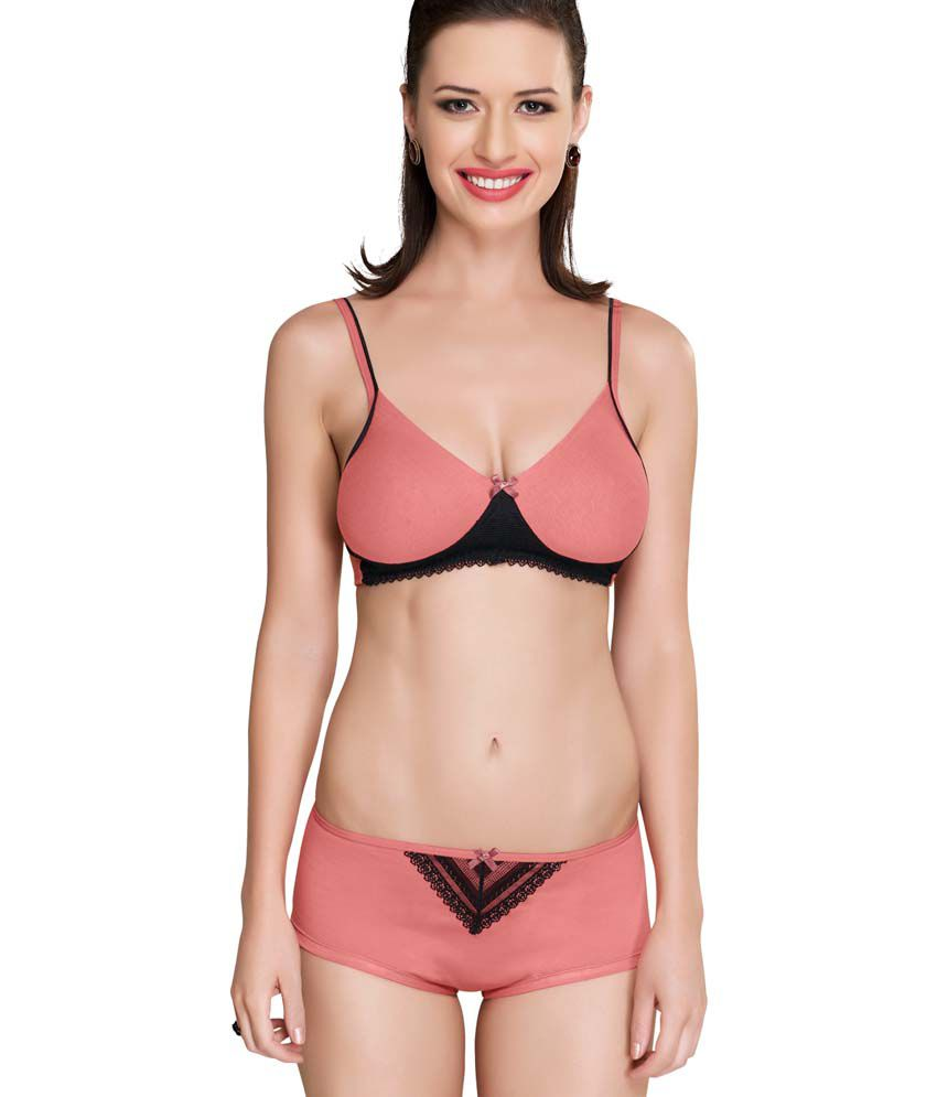 19e09b31e0 Buy Inner sense PeachPuff Bra   Panty Sets Online at Best Prices in India -  Snapdeal