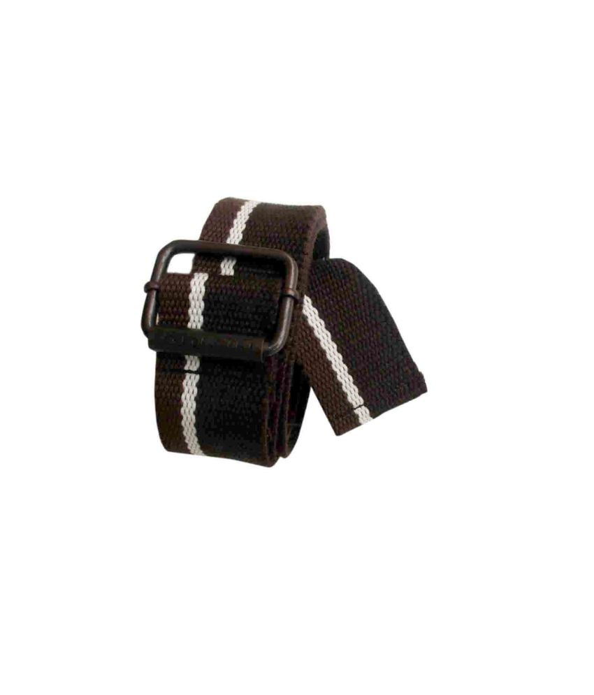 Globe Multicolour Canvas Belt