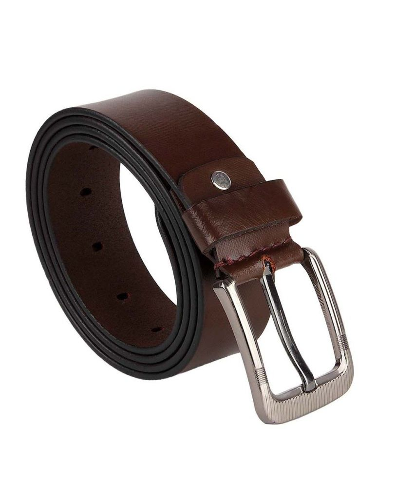 Kailasa Brown Leather Pin Buckle Belt