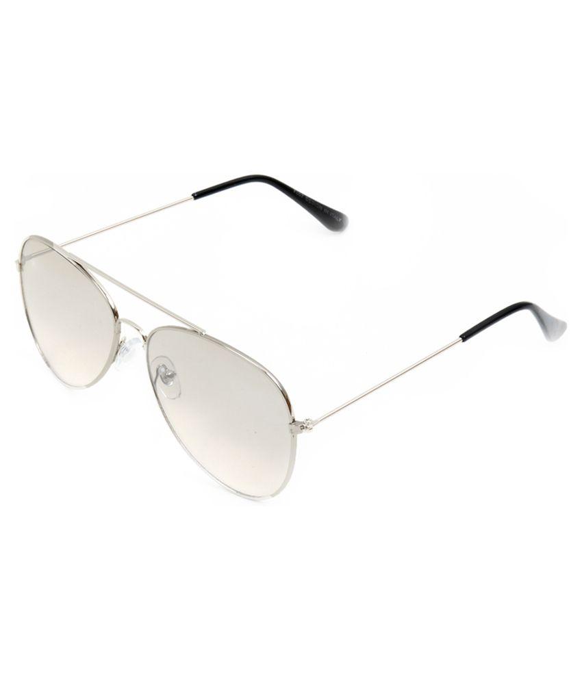 TLH TLH2520 Silver Aviator Medium Sunglasses