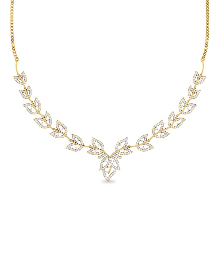 WearYourShine PC Jeweller 18KT Gold The Allaire Diamond Necklace