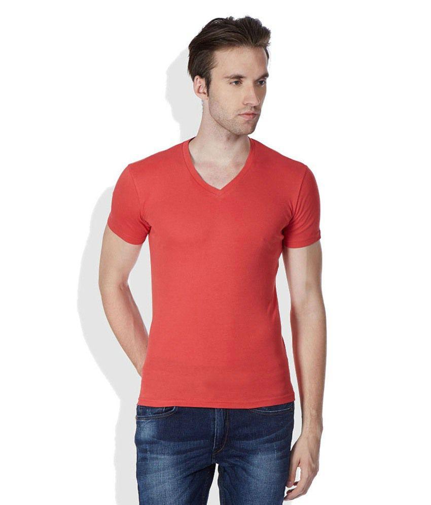 Goyal Trading Red Cotton T Shirt