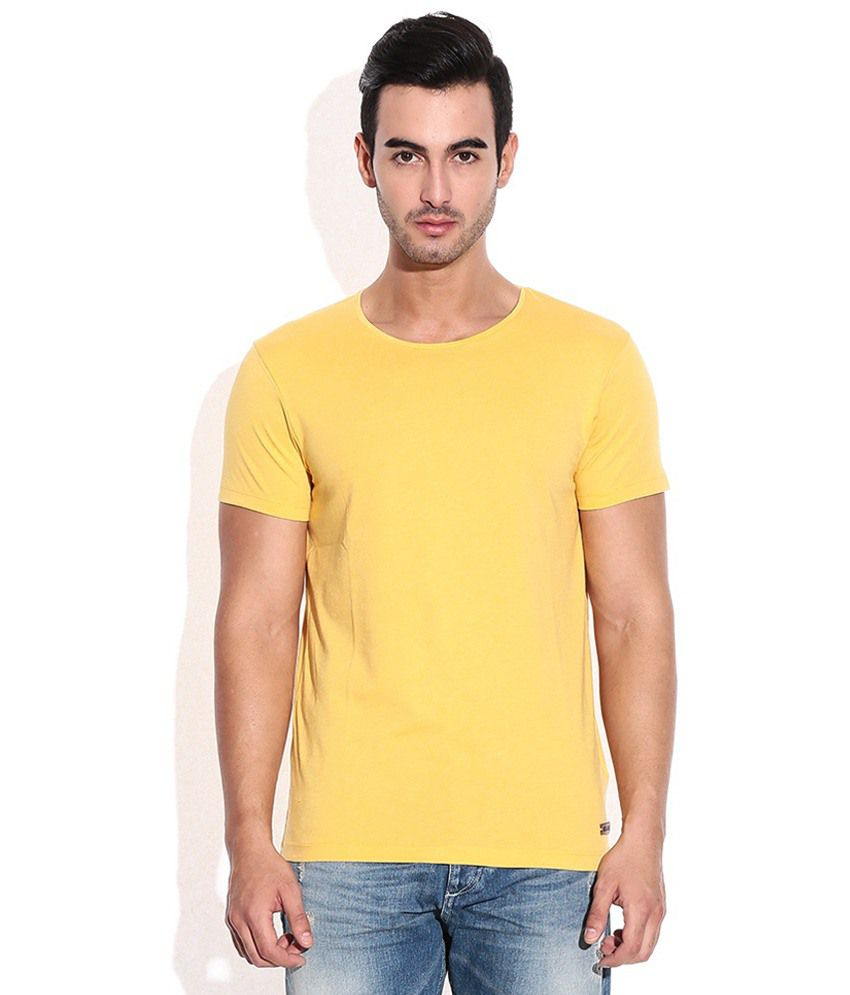 Goyal Trading Yellow Cotton T Shirt