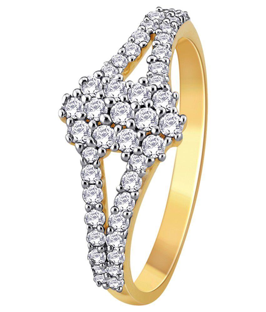 My Zevar Anahi 18kt Diamond Gold Ring