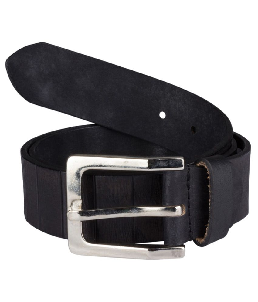 Suchos Black Casual Belt For Men