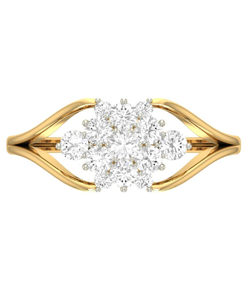 WearYourShine PC Jeweller 18KT Gold The Brianne Diamond Ring