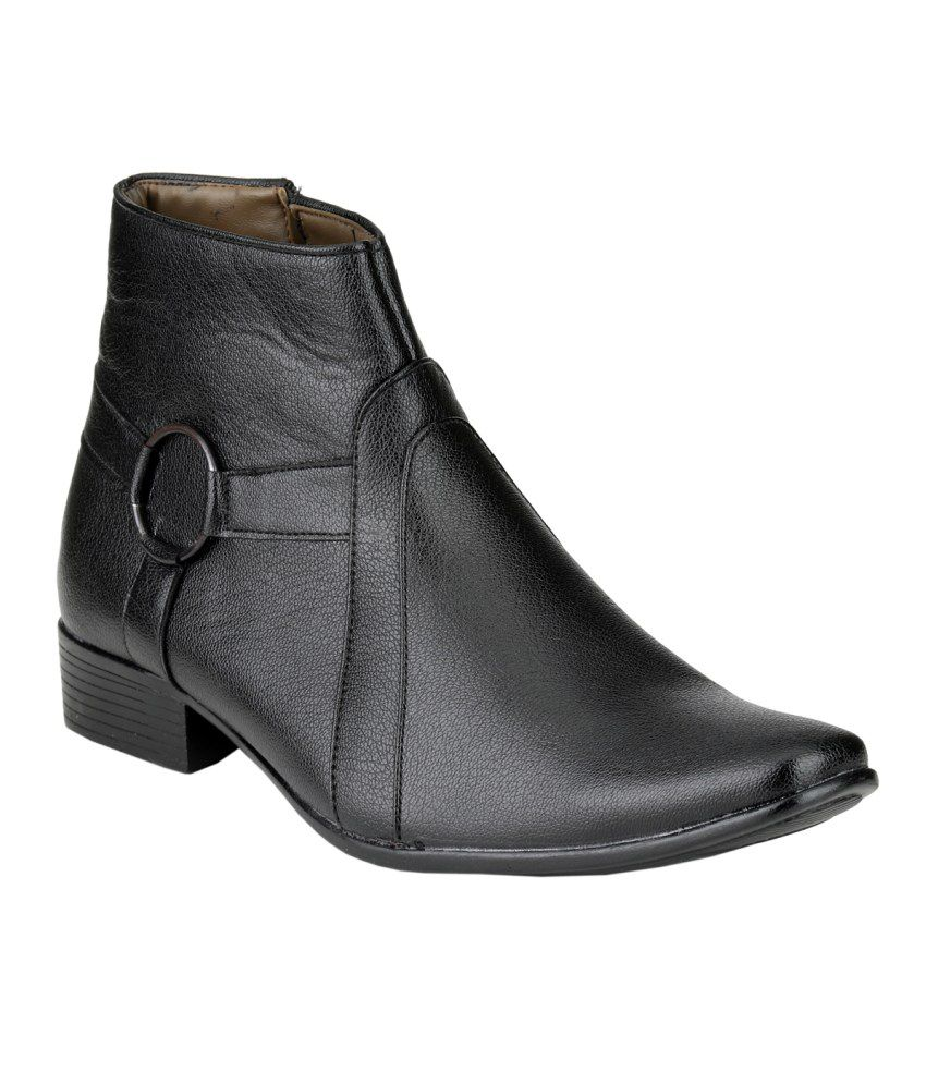 Real Blue Black Chelsea boot