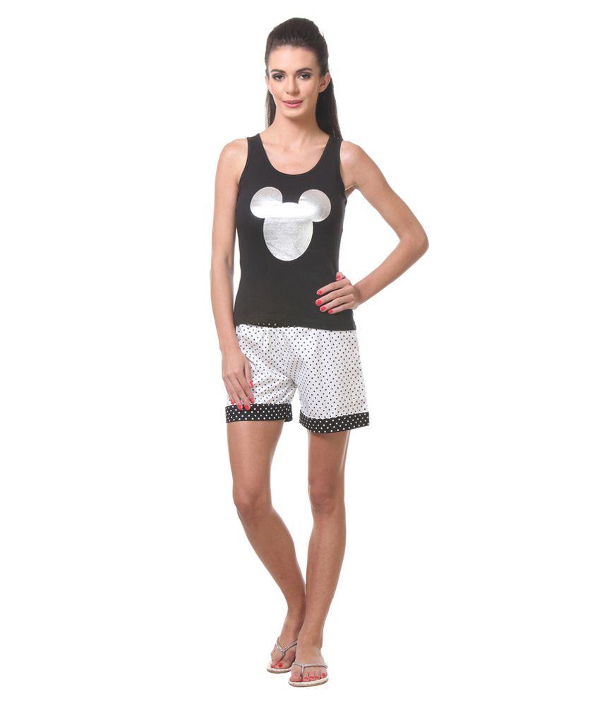 Tweens Black Cotton Nightsuit Sets Tweens Black Cotton Nightsuit Sets ... 57ba38437