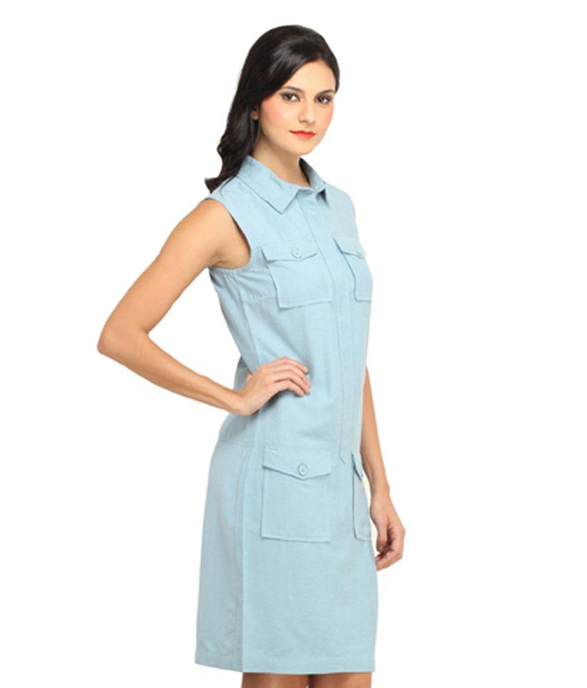 bfb43664ac24 Ladybug Blue Linen Dresses - Buy Ladybug Blue Linen Dresses Online ...