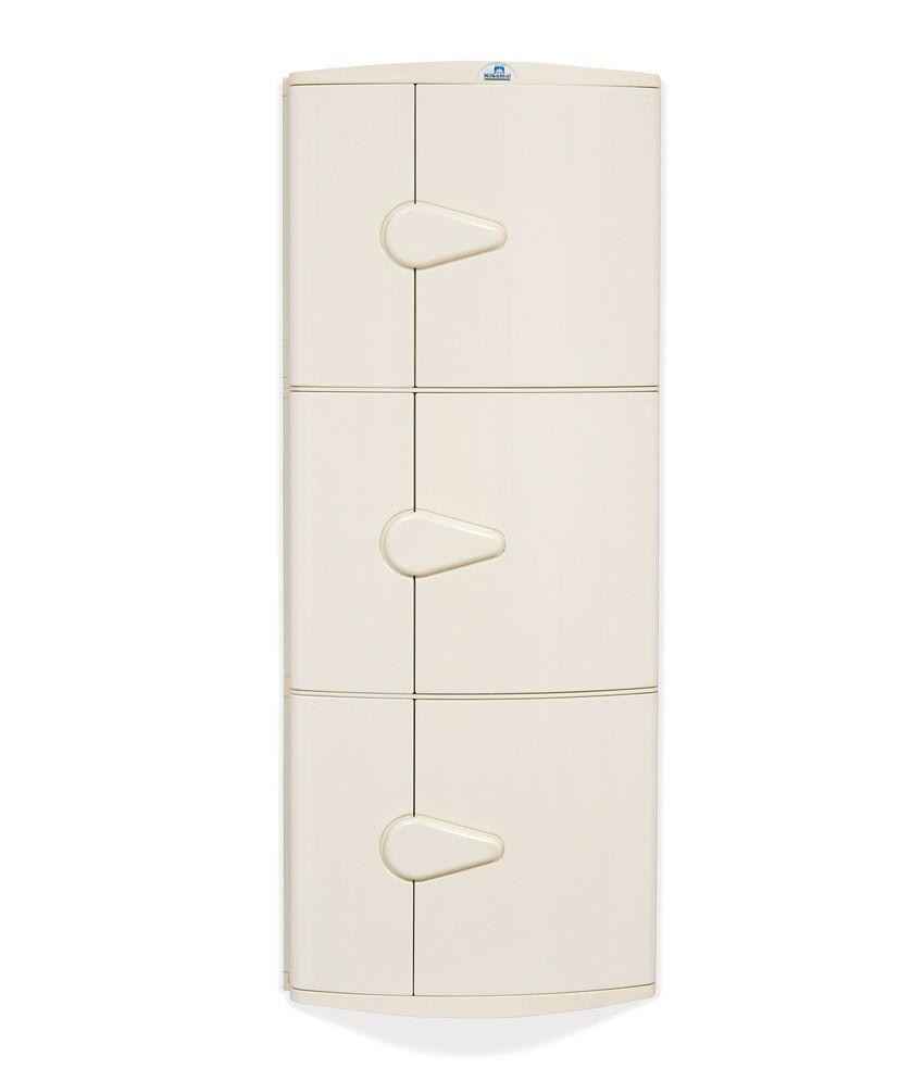nilkamal corner cabinet 3d ivory rh snapdeal com