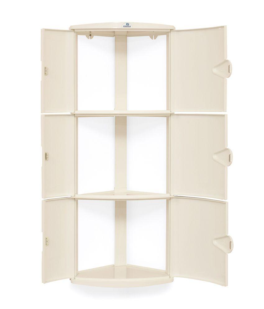 Nilkamal Kitchen Furniture Nilkamal Corner Cabinet 3d Ivory Buy Nilkamal Corner Cabinet 3d