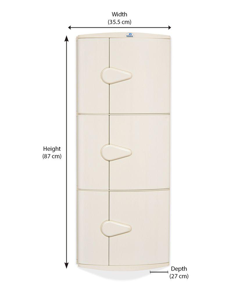 Nilkamal Corner Cabinet 3d Ivory Buy Nilkamal Corner Cabinet 3d Ivory Online At Best Prices In India On Snapdeal