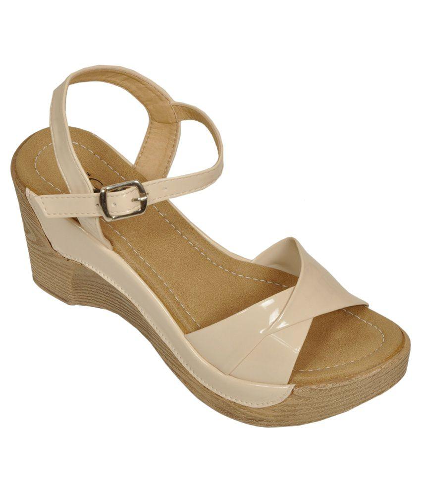 Bare Soles Beige High Heel Sandals