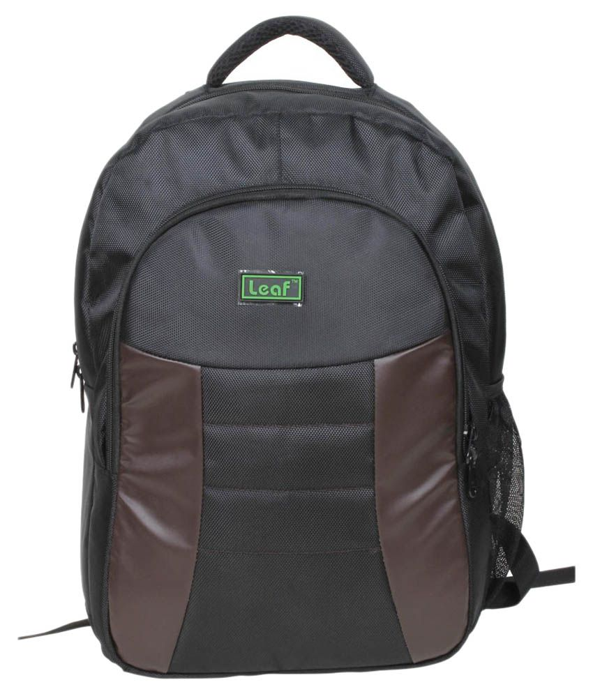 Leaf Black Classic Laptop Back Pack