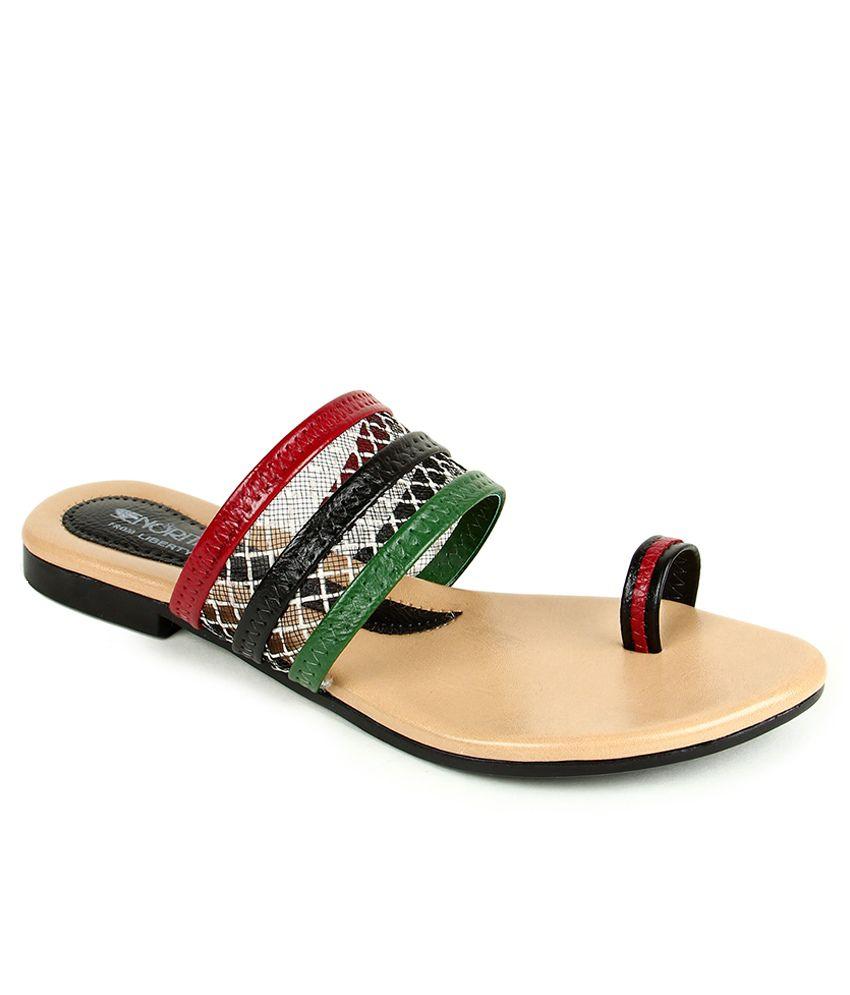 Senorita Multi Colour Slippers