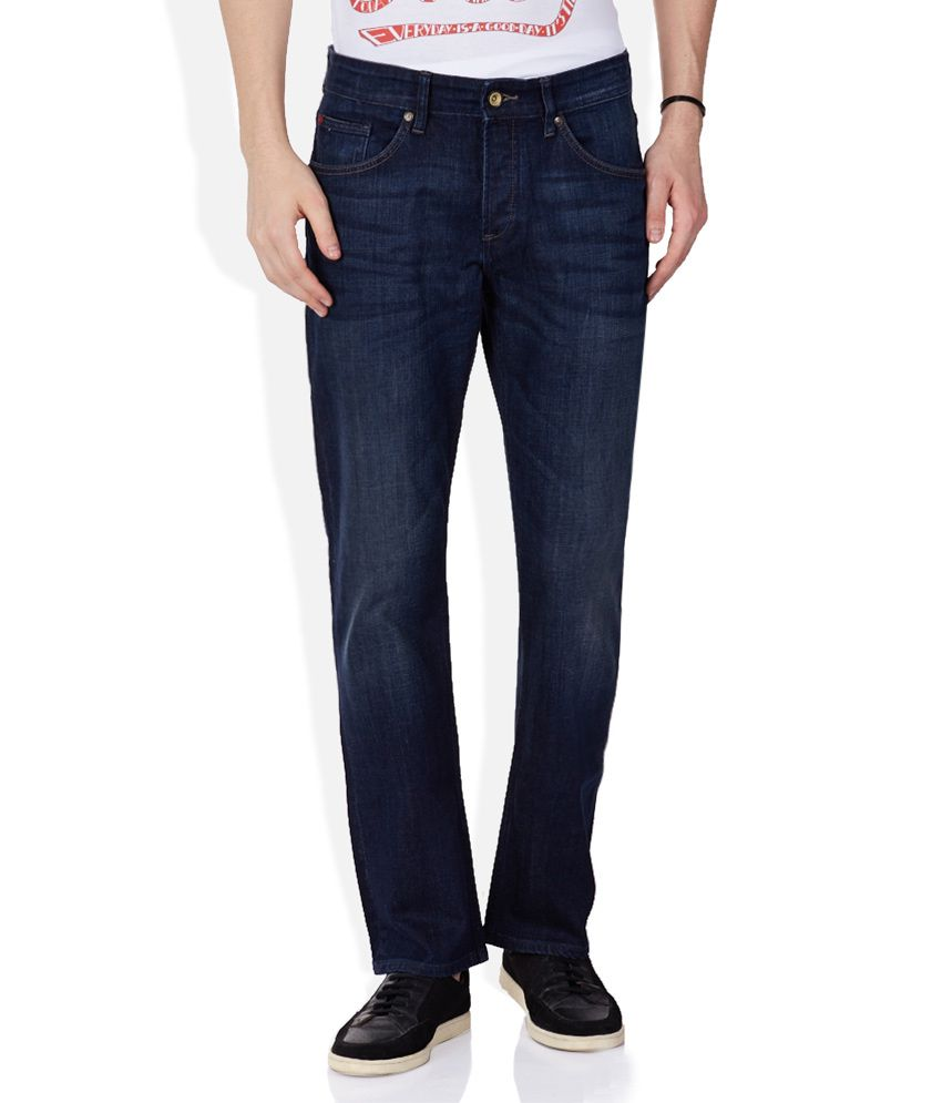 Celio Navy Dark Wash Regular Fit Jeans