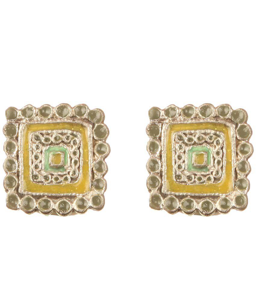 DCA Multicolor Alloy Clip Back Cluster Earrings
