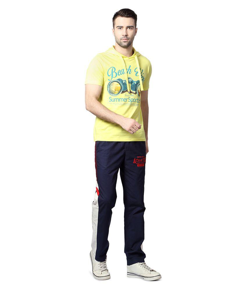 Pantaloons Yellow Hooded T Shirt