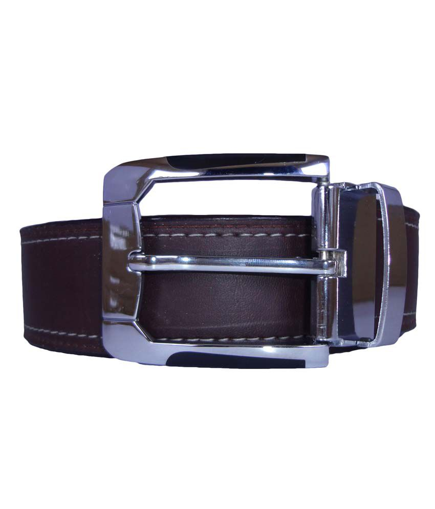 Revo Brown Leather Casual Belt