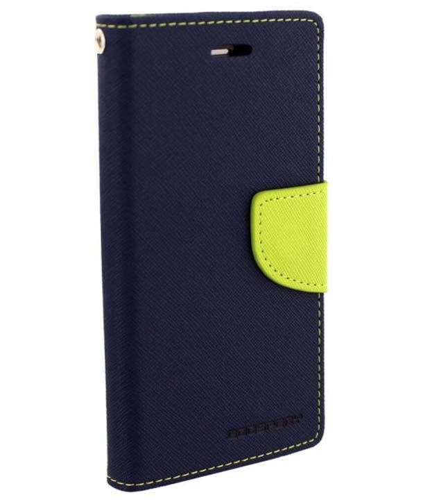 Uni Mobile Care Flip Wallet Cover For Samsung Galaxy Star Pro S7262 S7260 - Blue